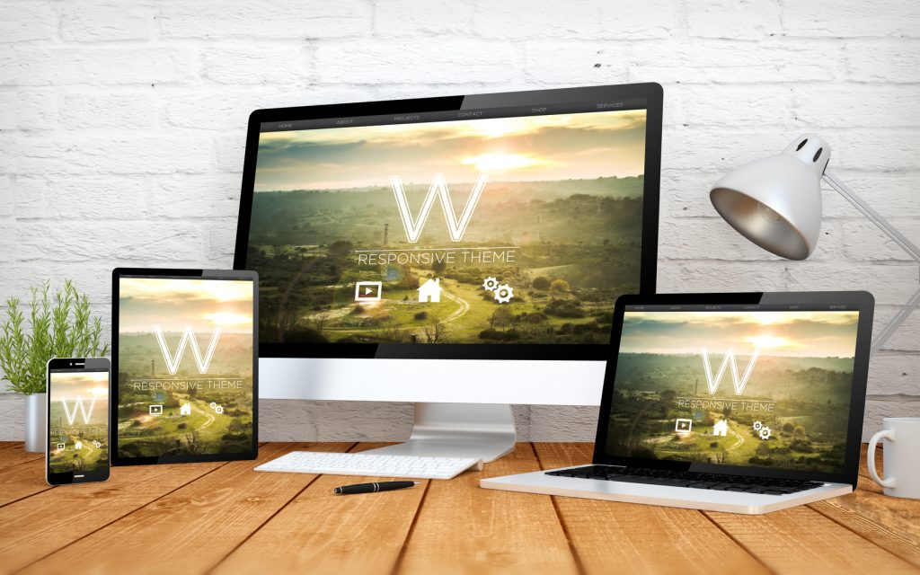 website on various devices
