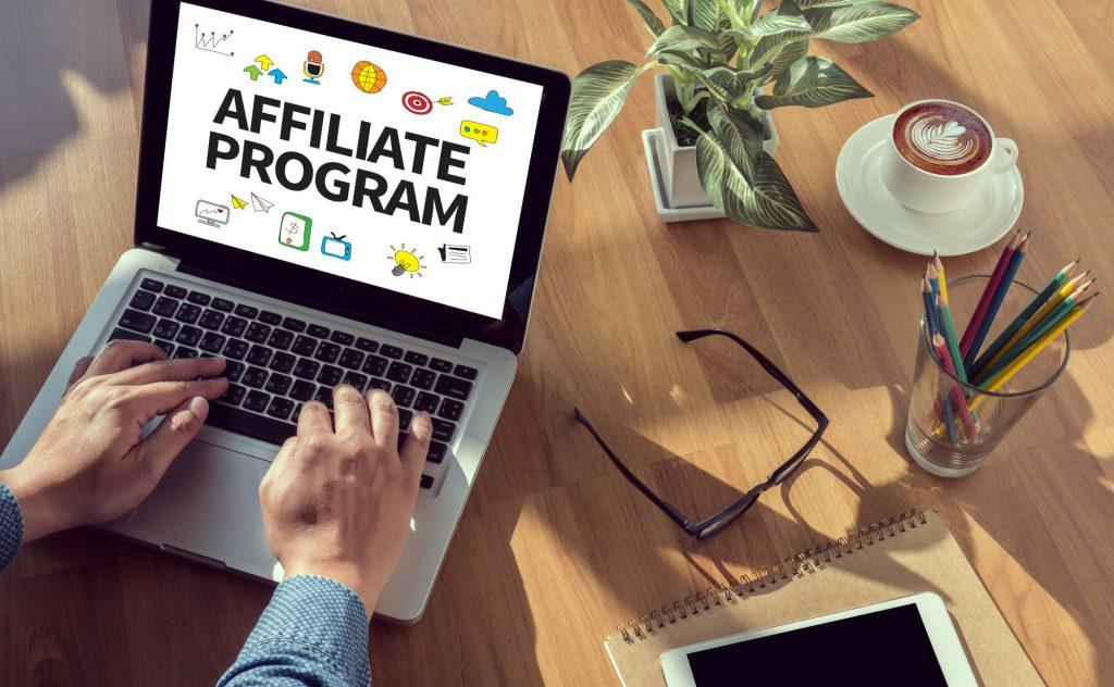 affiliate program on laptop