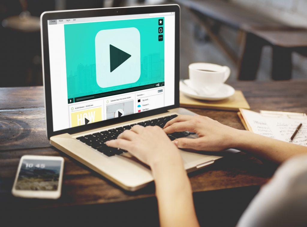 video on laptop screen